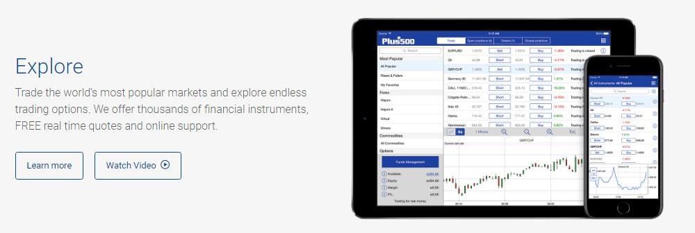 Plus 500 Trading platform