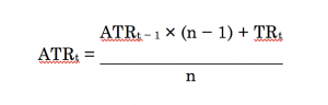 average true range formula