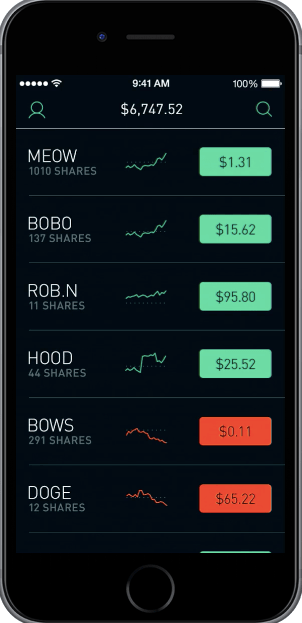 Robinhood trading apps